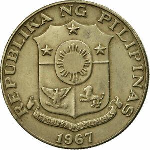[#691790] Coin, Philippines, 50 Sentimos, 1967, EF(40-45), Copper-Nickel-Zinc