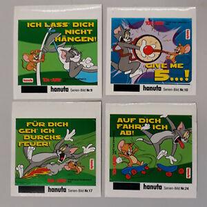 """4 x Sticker: """"Tom und Jerry"""" (Reihe: Wahre Freunde) Hanuta, Ferrero, Aufkleber"""