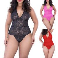 Plus Size Sexy Lingerie Lace Women's G-string Dress Underwear Babydoll Nightwear