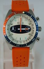Bulova 98A254 Quartz Surfboard Watch with ORANGE Silicone strap = WOW