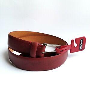 """Levis men 11LV02RU Classic 1.5"""" Premium Genuine Leather red belt 36 38 40 NEW"""