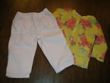 UNITED COLORS OF BENETTON 74 9-12 FLORAL SWEATER 62 3-6 PINK PANTS SET