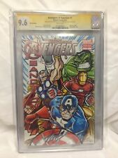 Avengers Origin SKETCH #1 CGC 9.6 & Signed BY MICHAEL DURON & STAN LEE