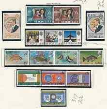 SEYCHELLES 1972-74 SCOTT #'s 309 TO 329, 262a, 264a, 265a 5 SETS MNH FREE SHIP