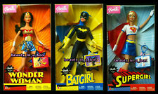 Wonder Woman Batgirl Supergirl Super Hero 2003 DC Comics Barbie Doll Lot 3 EXC D
