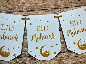 Eid Mubarak Ramadan Mubarak Kareem Happy Eid Banner Party Decoration A5 EM5b
