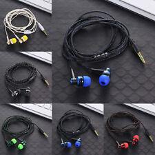 Tressé 3.5mm Stéréo Écouteur Casque Mic Intra-auriculaire basse In-Ear pr iphone