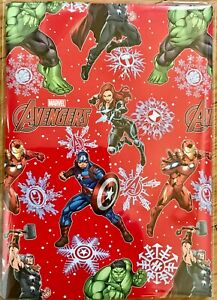 Marvel Avengers Christmas Wrapping Paper (2 Sheets Only) 50 x 70cm each