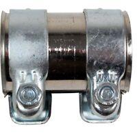 2x BayWorld Auspuff Universal Rohrverbinder 60x64,5x80mm Doppelschelle 60x80 mm