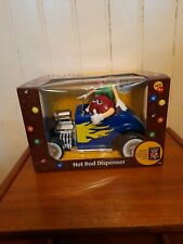 More details for  m&m's blue/yellow rebel without a clue hot rod sweet/candy dispenser new boxed