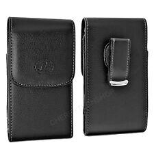 Black Vertical Leather Belt Clip Case Pouch Cover for Samsung INTENSITY SCH-U450