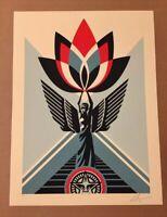 Shepard Fairey Obey LOTUS ANGEL AP Signed Screen Print RARE