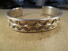 Chunky Sterling Silver Cuff Bracelet, Harry Spencer, Navajo, 47.9g