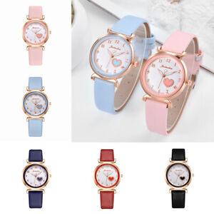 Women Wrist Watches Casual Quartz Leather Strap Band Round Analog Watch Fashion