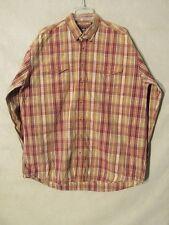 S5810 Roper Men's 1XT Red/Tan Plaid Long Sleeve Button Up Shirt