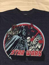 0250218 Star Wars Darth Vader Large T-Shirt Blue Short Sleeve The Empire L NWOT