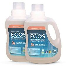 Earth Friendly Products ECOS 2X Liquid Laundry Detergent, 100 Fl Oz (Pack of 2)