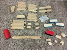 Huge Lot of Genuine Wooden Thomas and Friends 2 Sided Train Track + Gas Stream
