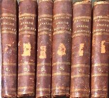 ANALISI RAGIONATA - VINCENZO PALMIERI - 1811 - 6 TOMI SU 7