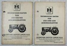 IHC 323 353 423 523 624 Ackerschlepper Technische Daten 1966