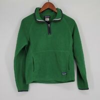 Patagonia Synchilla Marsupial Pullover Quarter Zip Fleece Sweater S Green