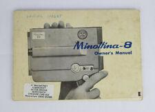 Vintage Minolta 8 Owner's Manual, English