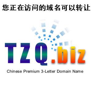 TZQ.biz - 3L 3-Letter LLL Chinese Premium Domain Name - GoDaddy