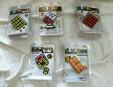 Lot of 5 RUBIK'S CUBES! 5X5, 4X4, 3X3, Void and Tower!