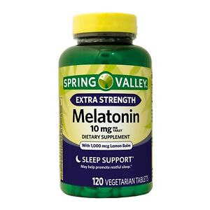 New Spring Valley Melatonin Tablets 10 Mg 120 Ct