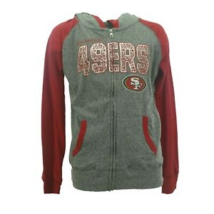 Youth Girls San Francisco 49ers NFL Hooded Light Weight Sweatshirt New With Tag