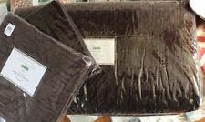 Pottery Barn Washed Velvet Quilt Set Napa Grape Queen 2 Standard Shams Purple