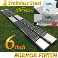 """For 99-16 Ford F250 Superduty Crew Cab 6"""" Running Board Nerf Bar Side Step S/S H"""