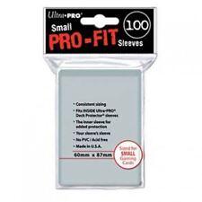 Ultra Pro Mangas Pro-fit claro C100 juego de cartas pequeño