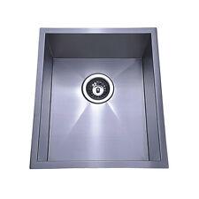 380 x 440 x 190 mm Square Undermount / Bench Top Kitchen Sink, Stainless Steel