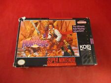 Uncharted Waters New Horizons Super Nintendo SNES Empty Box ONLY no manual/game