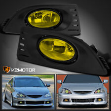 2005-2007 Acura RSX JDM Yellow Bumper Driving Fog Lights Lamps+Switch Left+Right