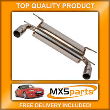 Dual Exit Stainless Steel Performance Exhaust Silencer Mazda MX5 Mk3 2005>2015