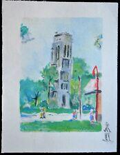 """SUPERBE  LITHOGRAPHIE Maurice UTRILLO """"  Paris Capitale, La Tour Saint Jacques """""""