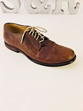 John A. Frye Men's Shoe Brown Distressed Leather Mark Oxford size 9.5D