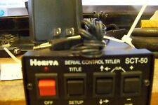 Horita SCT-50 Character Generator, Time/Date Stamp, Serial Control