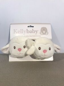 Kelly Baby 2 Pack Car Seat Safety Belt Covers Kids Plush Lamb Pads