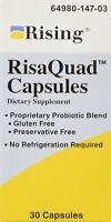 Rising Risaquad-2 Probiotic Double Strength Capsules Dietary Supplement 30 Ct
