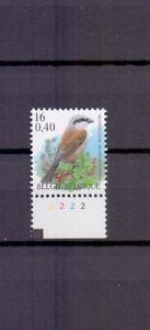 BELGIUM 2000 red backed shrike buzin bird plate 2 MNH** 2885PL2