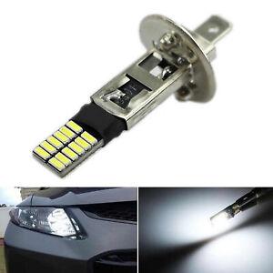 Superbright 6500K HID Xenon White 24-SMD H1 LED Bulbs for Fog Lights Driving DRL
