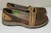 Ahnu Merritt Slip-on Flat Womens Shoes Brown Leather Mary Jane Loafer Sporty 9