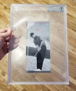 1996 Tiger Woods Niketown Promo ROOKIE Graded BGS 9 MINT - NIKE 🐐 GOAT