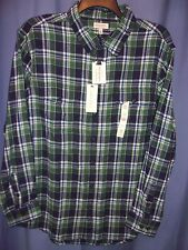 SONOMA, GREEN PLAID, L/S, WEEKEND FLANNEL SHIRT, SIZE: XL, NEW W/TAGS