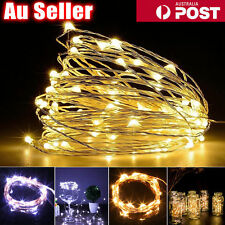20-100 LED 2-10M LED String Fairy Lights Battery Powered Copper Wire Xmas Decor