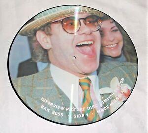 "ELTON JOHN - INTERVIEW PICTURE DISC  - 12"" LP VINYL ALBUM - RARE - NEW  BAK 2005"