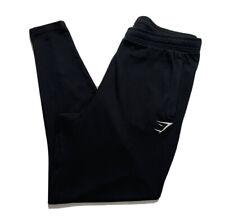Gymshark Mens Joggers Tapered Drawstring Sweatpants Zip Ankle Black Size Large